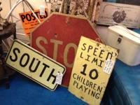 Vintage Roadway Signs. Stop Indicator $48. Wood South