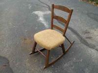 I have a vintage rocking chair for sale. The chair is