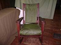 I have a vintage rocking chair for sale. It is old