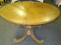 Round timber table as imagined, needs a little Tender