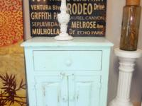 Beautiful Solid Wood Turquoise Nigthstands --- - $275