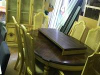 Vintage Sage Dining Table With 5 Chairs $185 Chabad