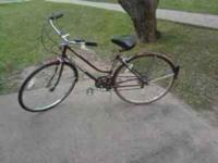 Late 70's vintage ladies Schwinn cruiser. Recently