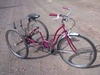1970 schwinn hollywood 3 speed 3 wheel bike with 26""