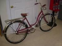 Classic Schwinn Maroon Girls Bike (1950's) $175. In