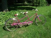 This Schwinn Twin tandem bicycle was made in June 1966