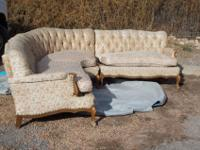 1940's -1950's vintage 3 piece sectional sofa in