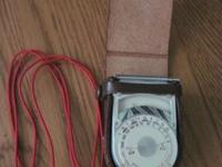 Vintage Sekonic Light Exposure Meter by Seiko, comes