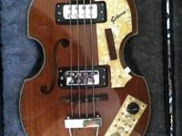 Offering a vintage beatle/violin body Sekova bass