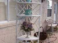 Vintage Shabby Chic Chinese Chippendale Style Corner