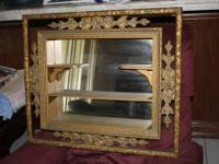 FOR SALE : Vintage Shadow Box Mirror Wall Decor
