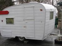 This is a vintage Shasta Compact Travel Trailer. Does