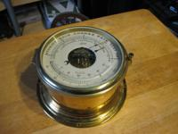 Beautiful vintage nautical SHIPS BAROMETER  ,marked on