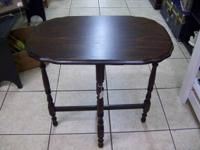 "2 Vintage Side Tables, biggest is 273/4"" long x 171/2"""