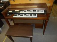 Silvertone Solid State Organ with bench seat Vintage