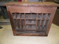 Antique Primitive Walnut Secretary Desk Leading w /