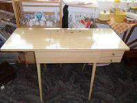Beautiful solid and sturdy sewing machine table in
