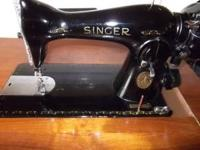 I have an old Singer sewing machine up for sale it is