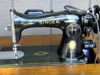 Vintage Singer Sewing Machine 1951  with Cabinet and