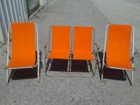 Retro / Vintage Sling Back Chairs and Love Seat  Sling