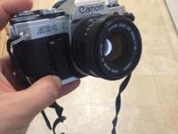 This is my old/vintage Cannon SLR. I think a real