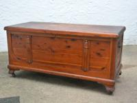 VINTAGE LARGE RED CEDAR HOPE CHEST  Made By: Standard