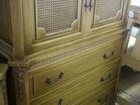 Vintage Solid Wood 6 Piece Bedroom Set 5 Drawer Chester