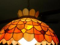 Stained Glass Hanging lamp with globe unique rare