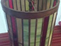 Beautiful Stained Glass Hanging Lamp would be a perfect