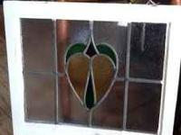 Beautiful vintage stained glass window. Vintage Jo (in