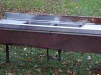 Up for sale is a 1950's-60's Stainless Steel Double Bar