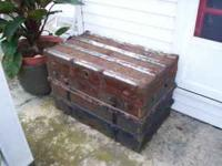 This old steamer trunk has seen its better days as a