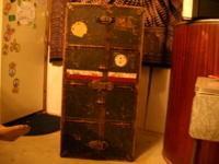 Antique Innovation wardrobe trunk , metal tag reads...