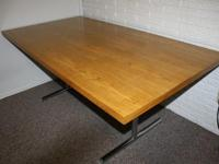 Iowa City Iowa Furniture 600 $. Beautiful Vintage Stendig Wooden Slab  Dining Table From