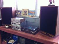 Beautiful Vintage Stereo, with Receiver, Cassette Deck,
