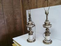 35+ YR OLD STIFFEL SET TABLE LAMPS, HEAVY WEIGHT , 28""