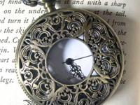 NEW Vintage style fancy pocket watch with a filigree