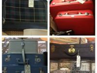 Classic Suitcases. Natural leather Luggage. Trip