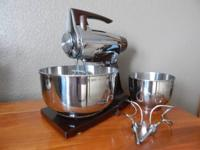 Vintage Sunbeam Chrome Vista Mixmaster Removeable