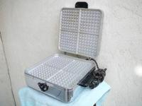 This 1950?s Waffle Griddle by Sunbeam (Model W-2A) is