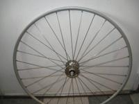 Vintage front tubular (not clincher) track wheel, in