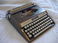 This Tab-O-Matic Royal portable typewriter by Litton