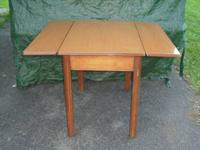 Vintage Table With Hidden Pullout Leaf Extensions
