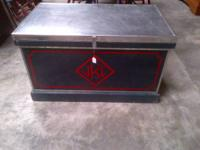 Vintage tack trunk made by Warner's Tack Mfg Company -