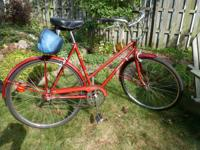 Vintage Takara 3-speed lightweight women's bike in