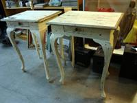 beautiful, elegant pair of end tables or nightstands,
