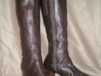 These brown leather vintage boots are from the 70's or