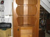Classic Quality Hardwood Maple Corner Hutch in