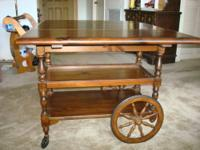 Vintage ~~ Tea Cart ~~ Drop Leaf Table w/ Drawer and