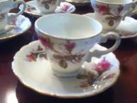 Vintage early 19 century tea set with saucers 12 piece